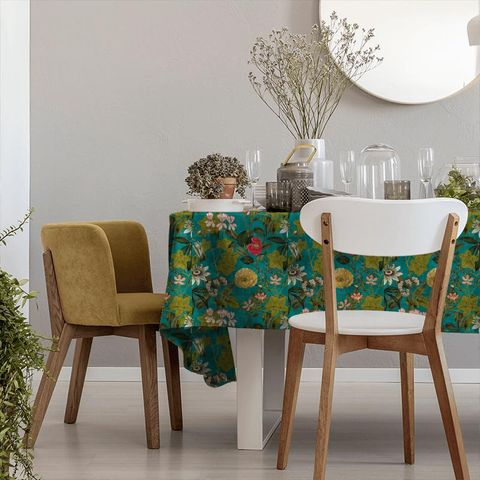 Passiflora Kingfisher Tablecloth