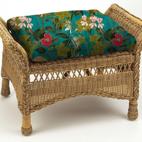 Passiflora Kingfisher Box Cushion