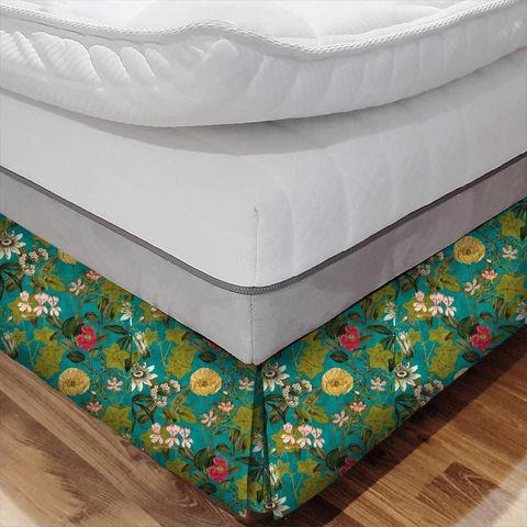 Passiflora Kingfisher Bed Base Valance
