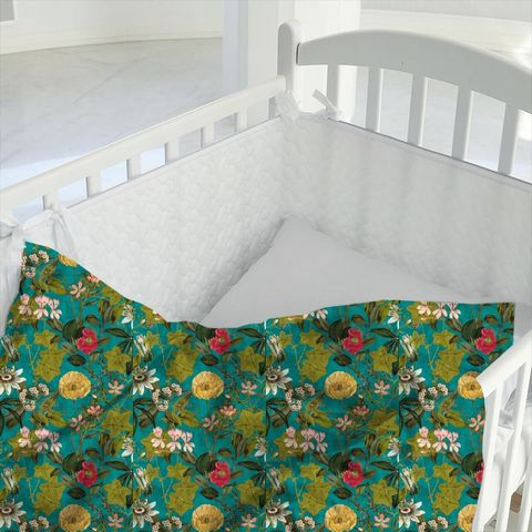Passiflora Kingfisher Cot Duvet Cover