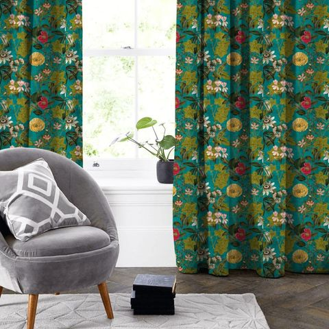 Passiflora Kingfisher Made To Measure Curtain