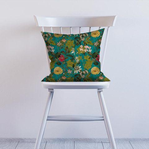 Passiflora Kingfisher Cushion
