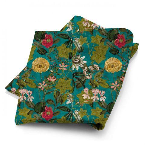 Passiflora Kingfisher Fabric