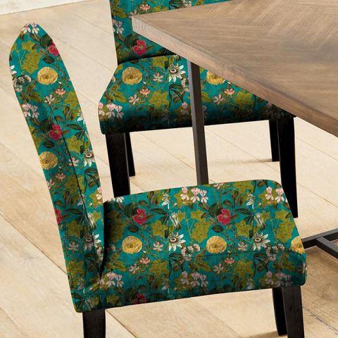 Passiflora Kingfisher Seat Pad Cover
