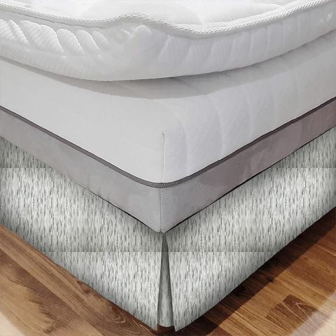 Colby Silver Bed Base Valance