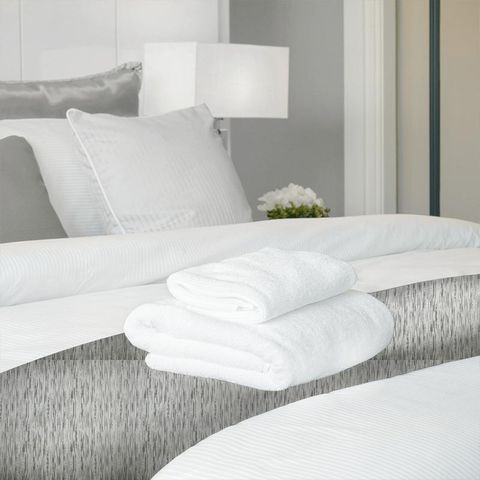 Colby Silver Bed Runner