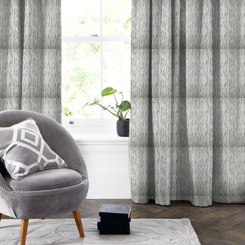 Colby Silver Made To Measure Curtain