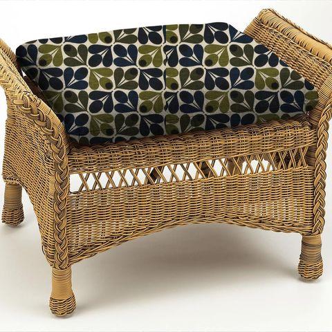 Slub Cotton Acorn Cup Dark Marine Box Cushion