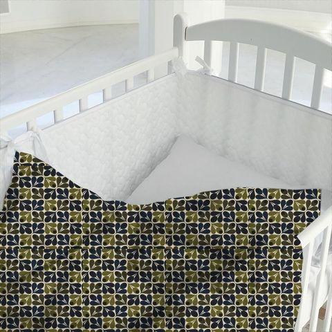 Slub Cotton Acorn Cup Dark Marine Cot Duvet Cover