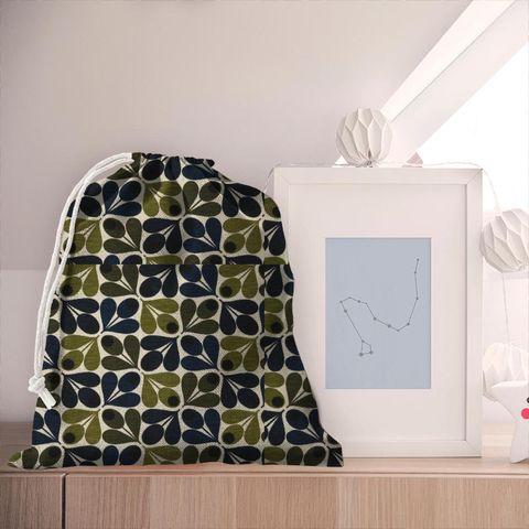 Slub Cotton Acorn Cup Dark Marine Pyjama Bag
