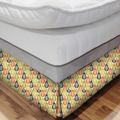Scribble Pear Multi Bed Base Valance