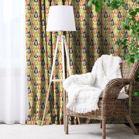 Scribble Pear Multi Made To Measure Curtain