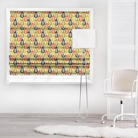 Scribble Pear Multi Made To Measure Roman Blind