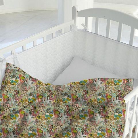 Hidden Paradise Pastel Cot Duvet Cover