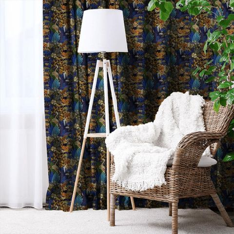 Hidden Paradise Midnite Made To Measure Curtain