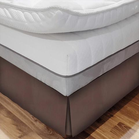 Belvoir Mocha Bed Base Valance