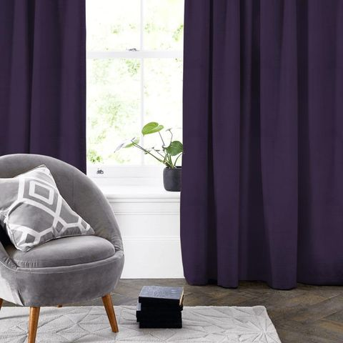 Belvoir Mulberry Made To Measure Curtain