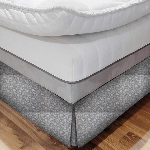 Bird Garden Charcoal Bed Base Valance