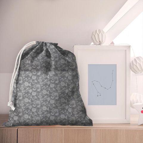 Bird Garden Charcoal Pyjama Bag