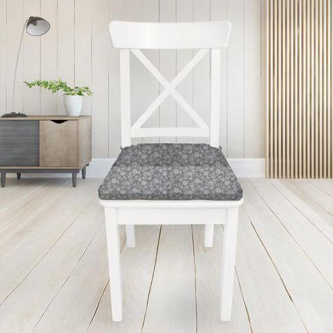 Bird Garden Charcoal Seat Pad Cover
