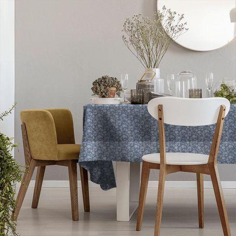 Bird Garden Denim Tablecloth