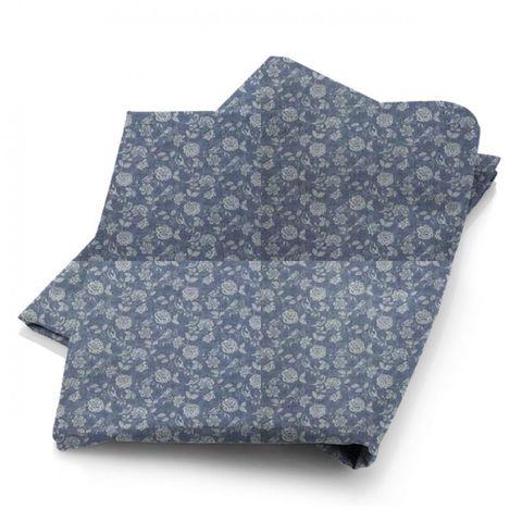 Bird Garden Denim Fabric