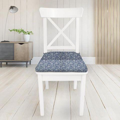 Bird Garden Denim Seat Pad Cover