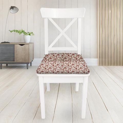 Bird Garden Peony Seat Pad Cover