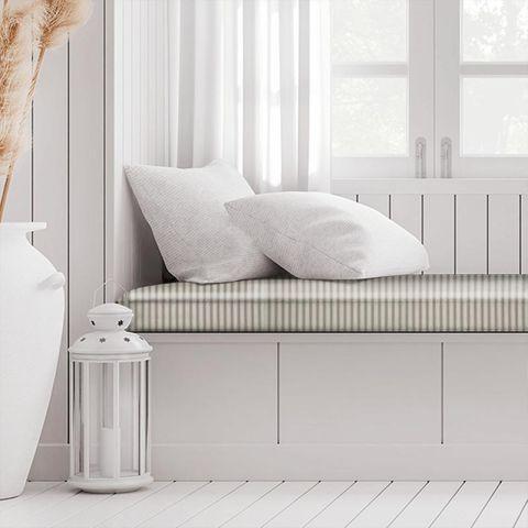 Blazer Stripe Charcoal Box Cushion