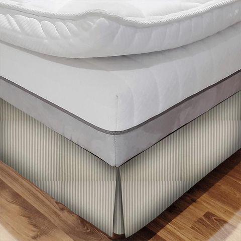 Blazer Stripe Charcoal Bed Base Valance