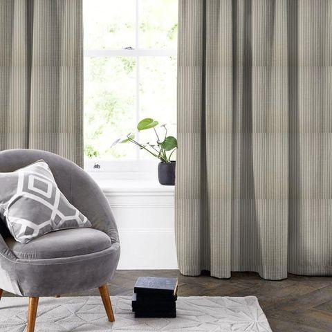 Blazer Stripe Charcoal Made To Measure Curtain