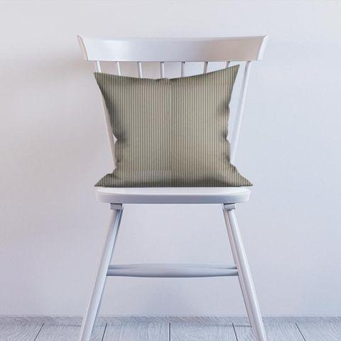 Blazer Stripe Charcoal Cushion