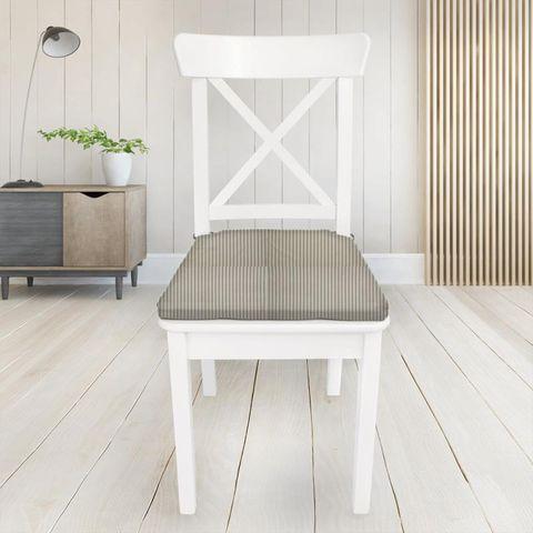Blazer Stripe Charcoal Seat Pad Cover