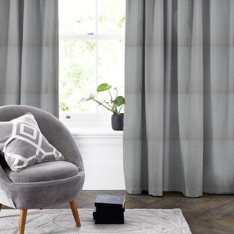 Blazer Stripe Denim Made To Measure Curtain