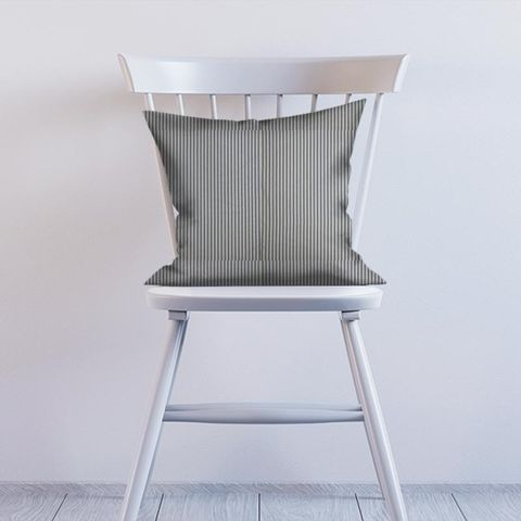 Blazer Stripe Denim Cushion