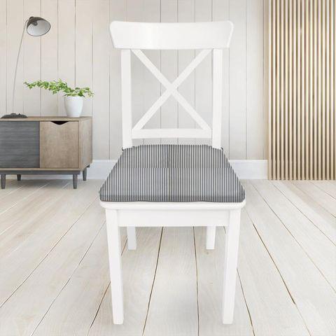 Blazer Stripe Denim Seat Pad Cover