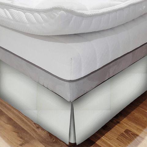 Blazer Stripe Duckegg Bed Base Valance