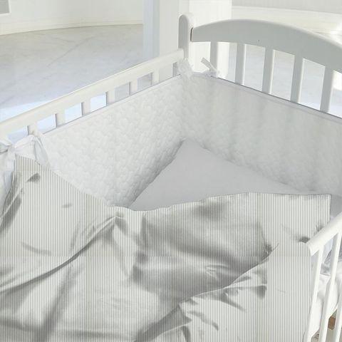 Blazer Stripe Duckegg Cot Duvet Cover