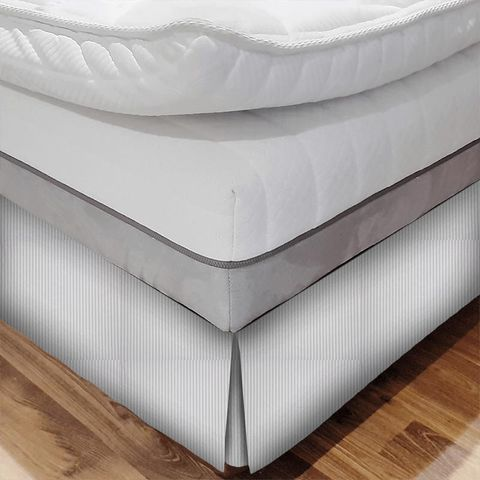 Blazer Stripe Lavender Bed Base Valance