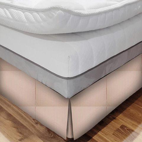 Blazer Stripe Peony Bed Base Valance