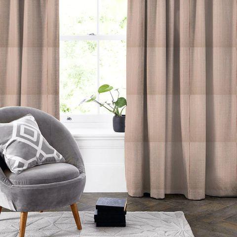 Blazer Stripe Peony Made To Measure Curtain