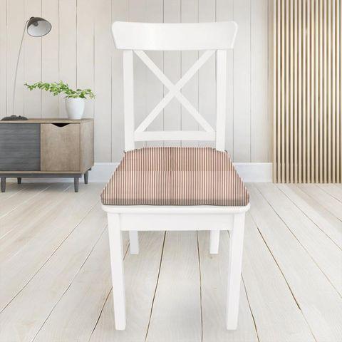 Blazer Stripe Peony Seat Pad Cover