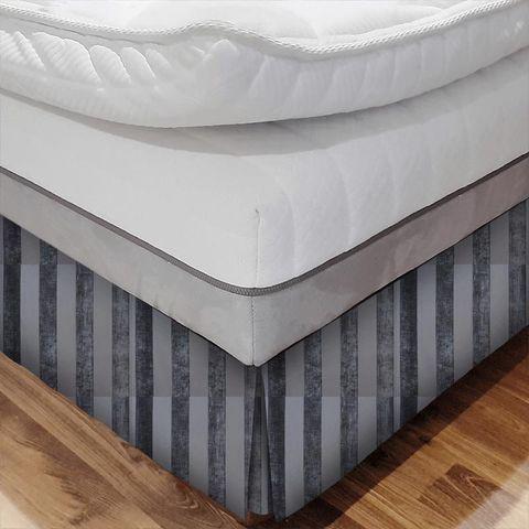 Boheme Stripe Granite Bed Base Valance