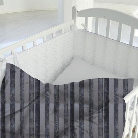 Boheme Stripe Granite Cot Duvet Cover