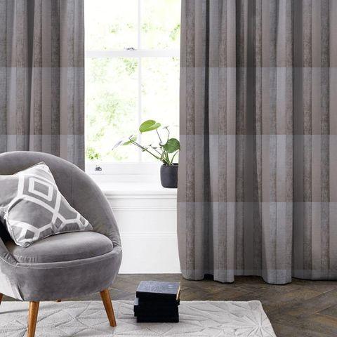 Boheme Stripe Mink Made To Measure Curtain
