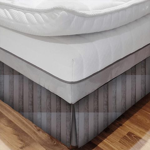 Boheme Stripe Mocha Bed Base Valance