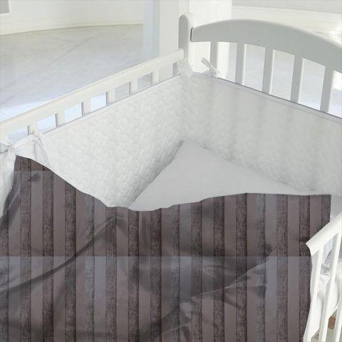 Boheme Stripe Mocha Cot Duvet Cover