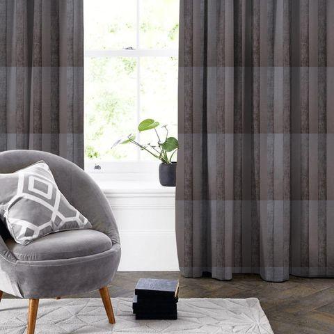 Boheme Stripe Mocha Made To Measure Curtain