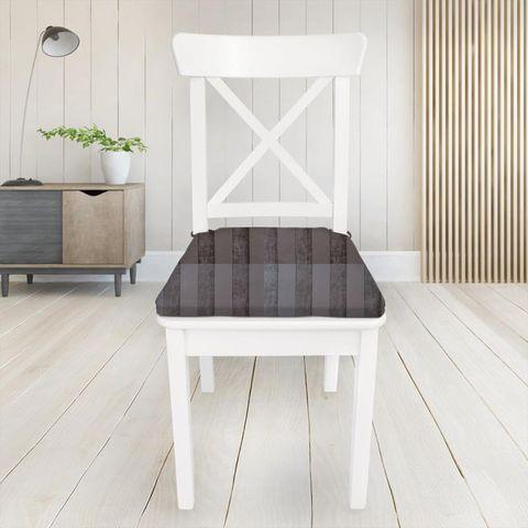 Boheme Stripe Mocha Seat Pad Cover