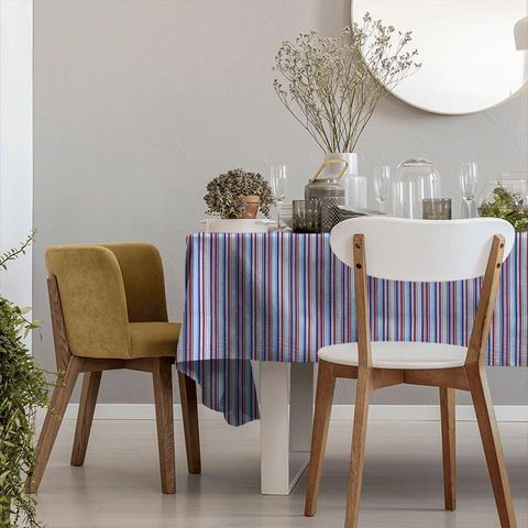 Candy Stripe Nautical Tablecloth